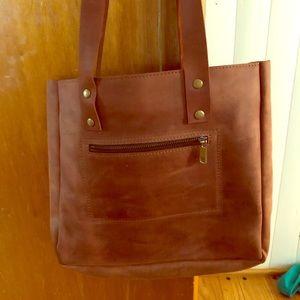 Handbags - Handmade leather tote.
